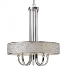 Uttermost 21233 - Uttermost Brandon Nickel 5 Light Shade Chandelier