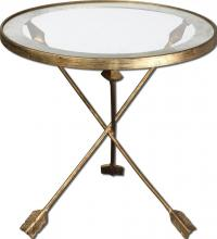 Uttermost 24275 - Uttermost Aero Glass Top Accent Table