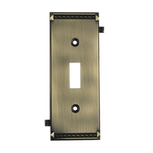 ELK Lighting 2504AB - Clickplates Middle Switch Plate In Antique Brass