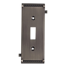 ELK Lighting 2504AP - Clickplates Middle Switch Plate In Antique Plati