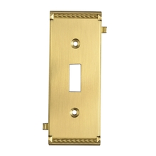 ELK Lighting 2504BR - Clickplates Middle Switch Plate In Brass