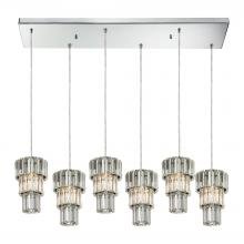 ELK Lighting 31489/6RC - Cynthia 6 Light Pendant In Polished Chrome And C